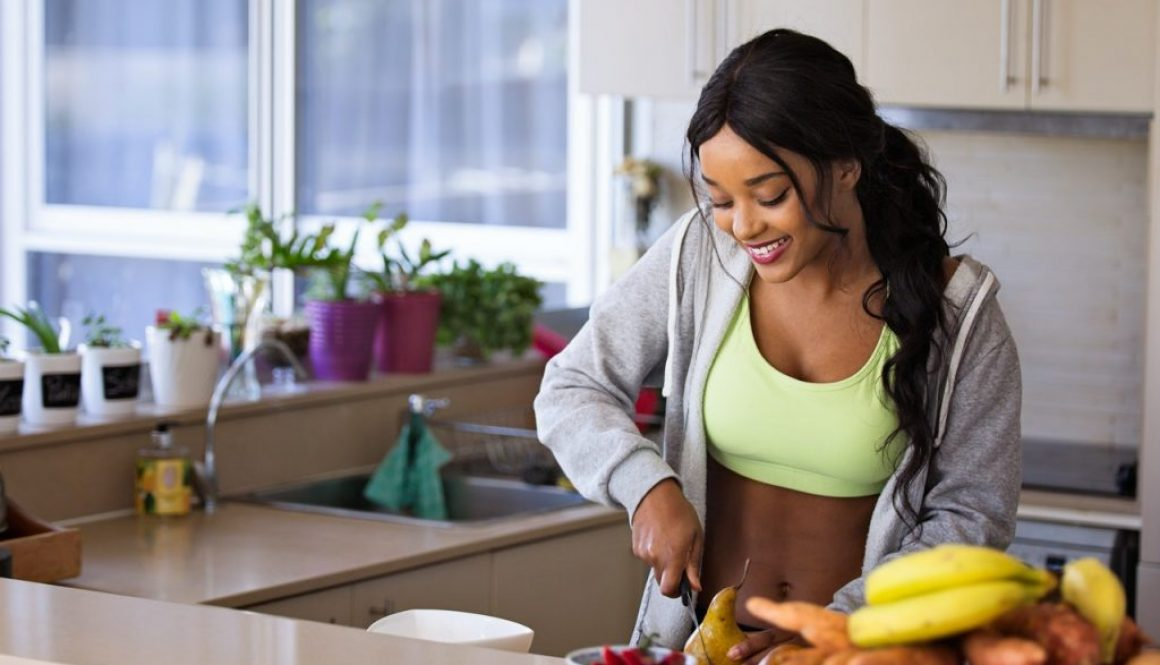 girl preparing to eat after workout