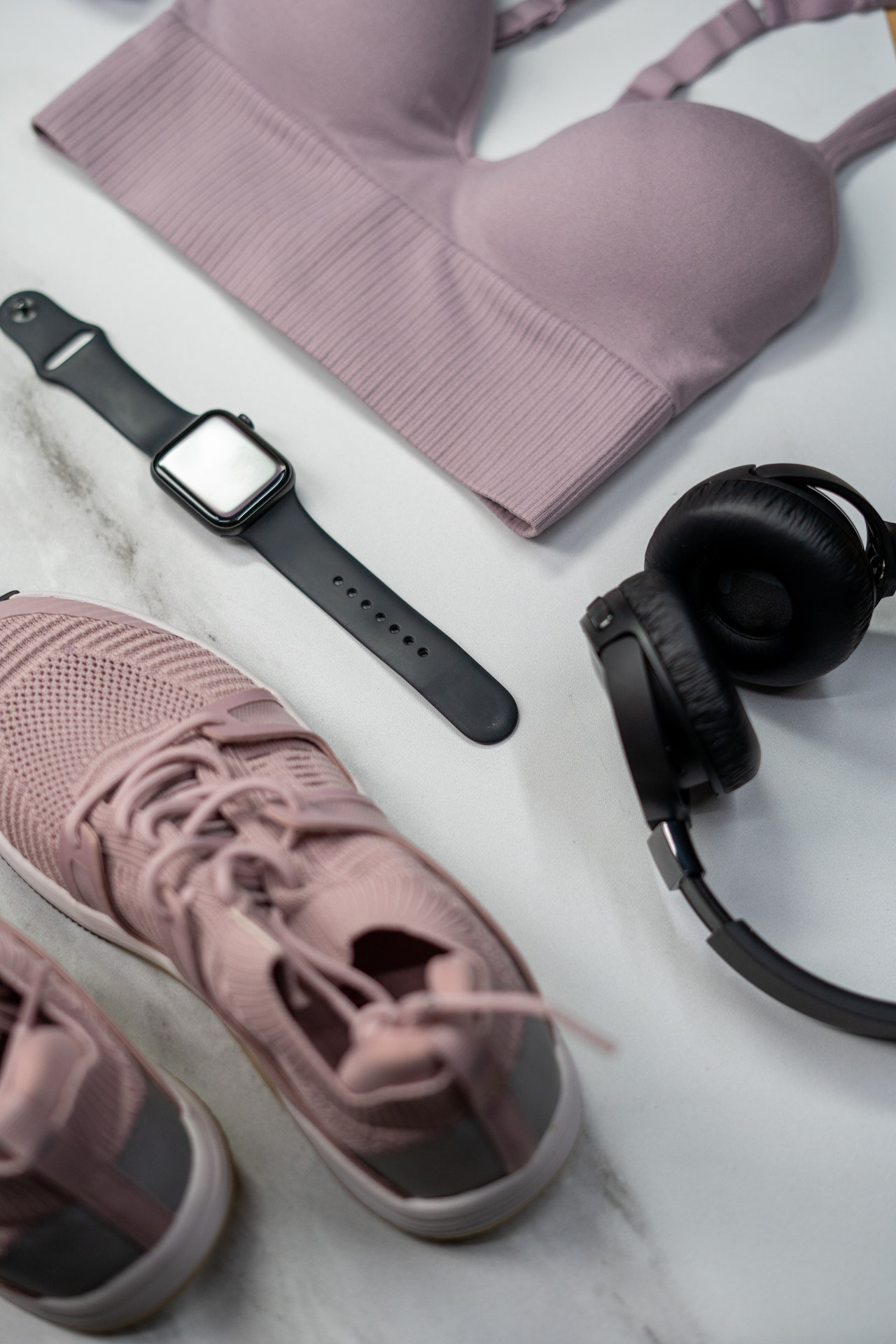 fitness watch and outfit