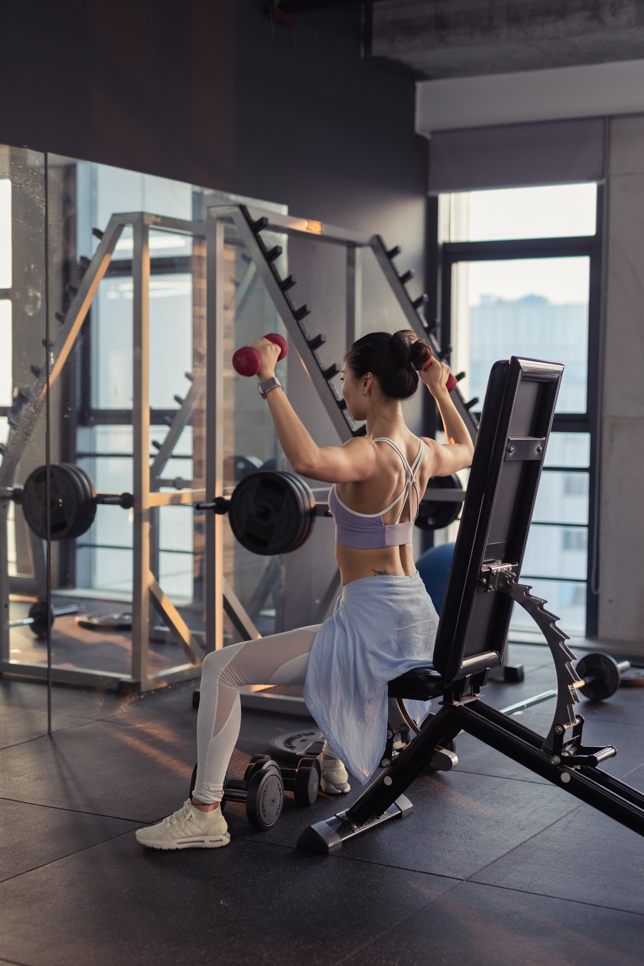 woman exercising in outfit for gym