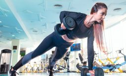 woman exercising in the gym outfit