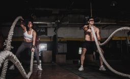 man and woman doing hiit workout